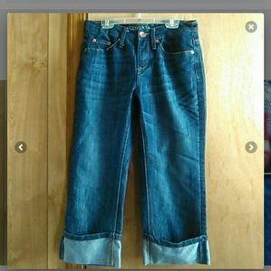 Merona Cuffed Capri Jeans